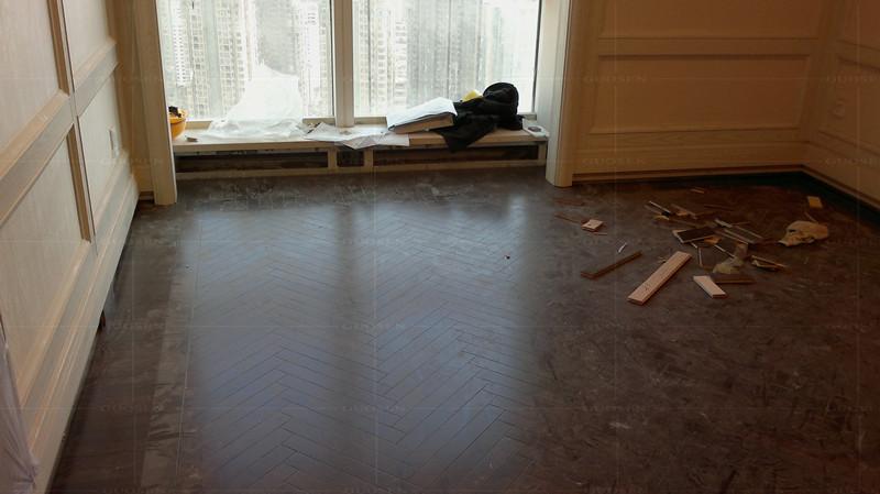 感谢:大连张先生自拍位于大连紫檀地板的居家-用国森柚木地板品牌安装