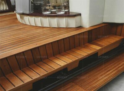 柚木地板游艇船甲板