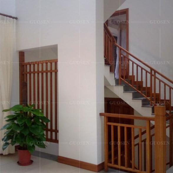柚木实木楼梯