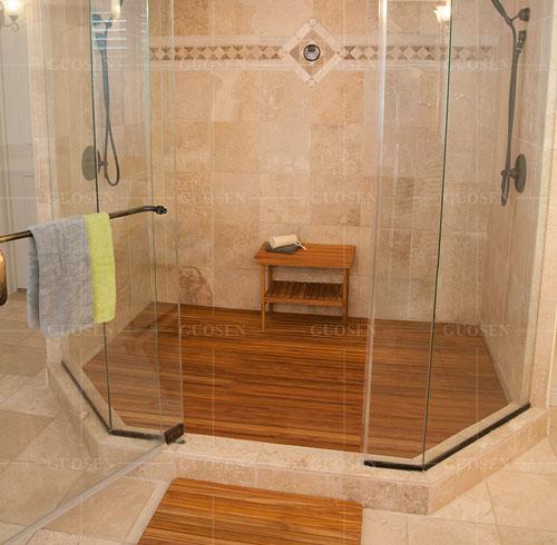 柚木浴室板