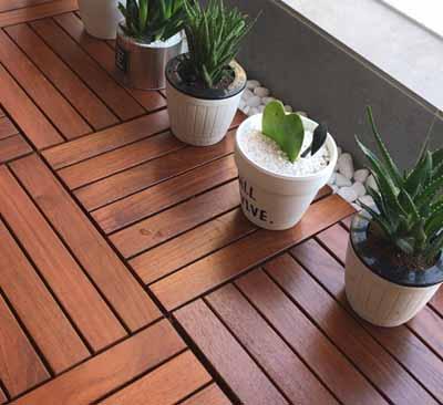感谢:广东省惠州市客户拍照柚木地板阳台板铺装效果