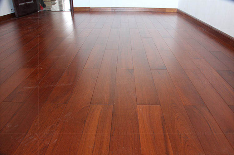 缅甸柚木实木地板环保油漆板910长