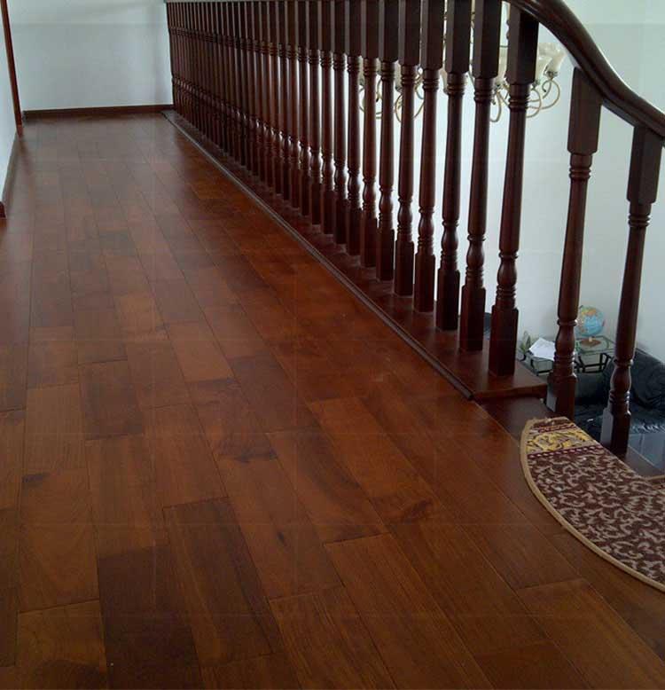 缅甸柚木实木地板环保油漆板460长