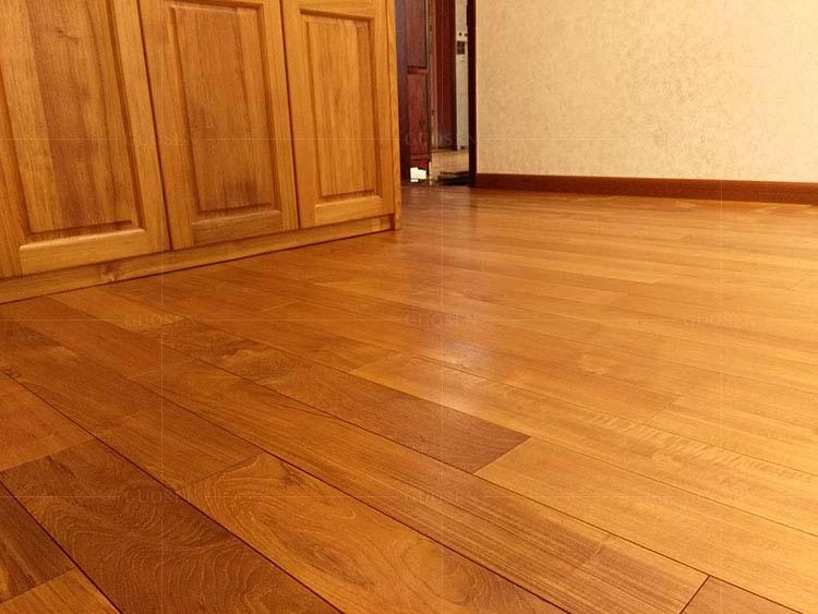 缅甸柚木实木地板木蜡油地板610长