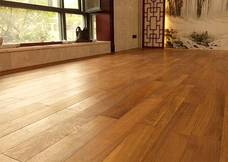 缅甸柚木实木地板木蜡油地板910长
