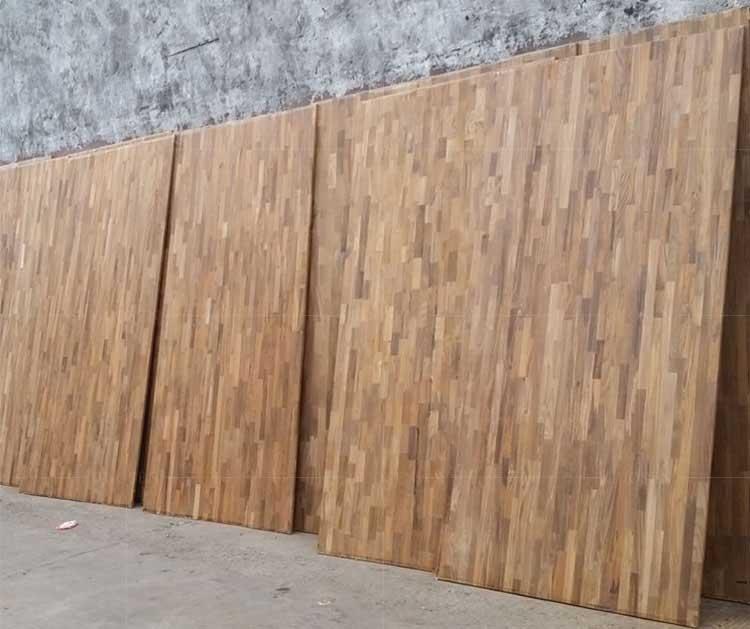 缅甸柚木实木拼接指接大板