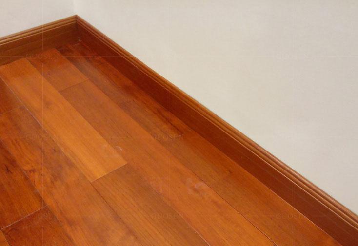 缅甸柚木线条原条油漆脚线