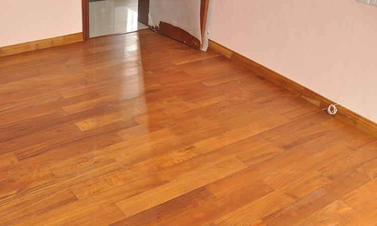 缅甸柚木实木线条指接木蜡油脚线