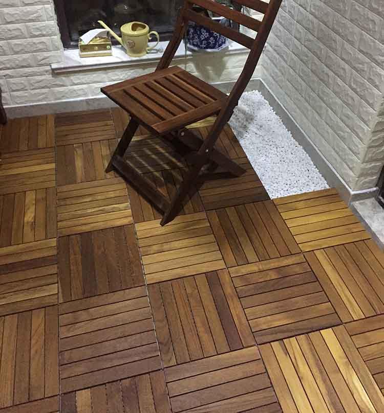 缅甸柚木木蜡油户外地板