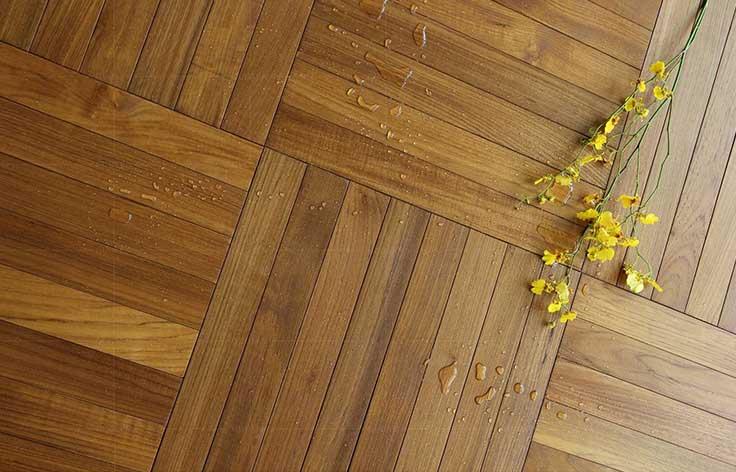 缅甸柚木人字拼地板